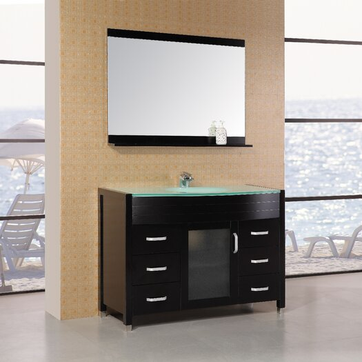 """Design Element Waterfall Cascade 47"""" Vanity Set with Single Sink"""