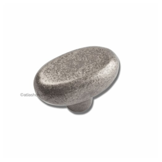 "Atlas Homewares Distressed 1.7"" Oval Knob"