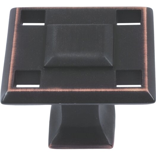 "Atlas Homewares Craftsman 1.3"" Square Knob"