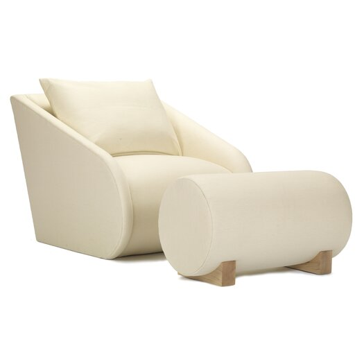 Slope Lounge Chair and Ottoman