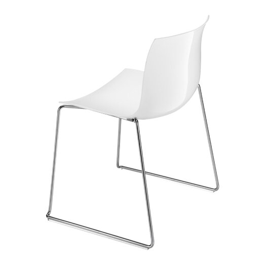Catifa 53 Polypropylene Two-Tone Chair with Sled Base