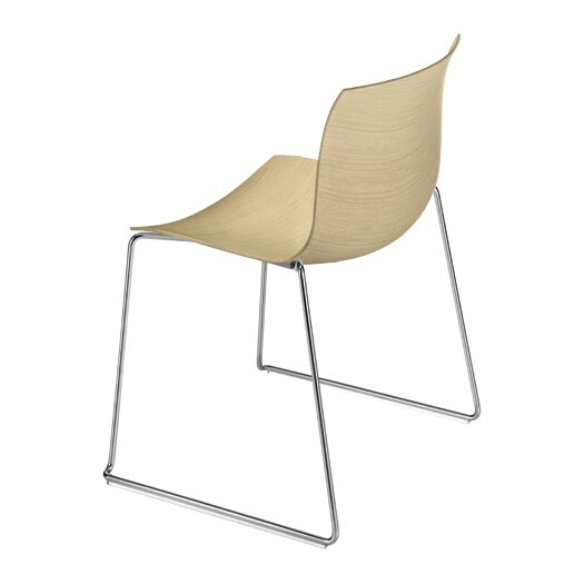 Catifa 53 Wooden Chair with Sled Base