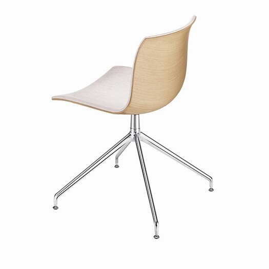Catifa 53 Polypropylene Two-Tone Chair with 4-Way Swivel Trestle Base on Glides
