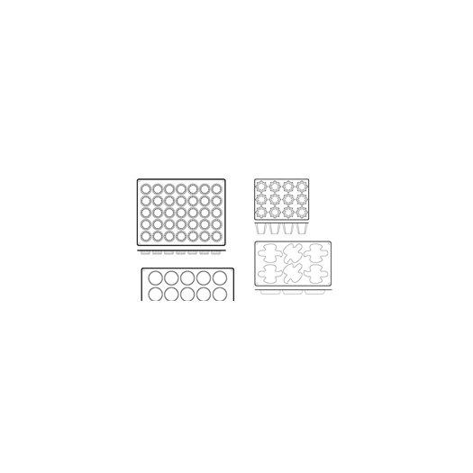 Paderno World Cuisine Mini Dove Non-Stick Silicone Mold