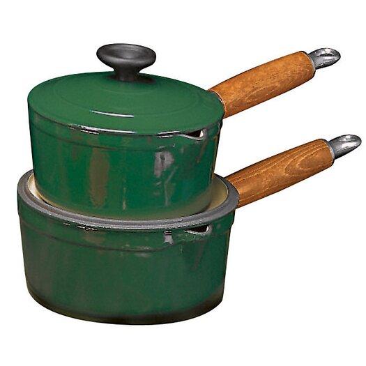 Paderno World Cuisine Cast Iron Saucepan with Lid