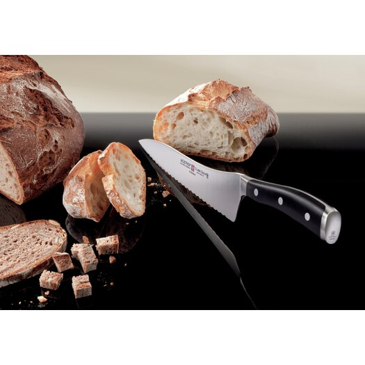 "Wusthof Classic Ikon 8"" Offset Deli Bread Knife"