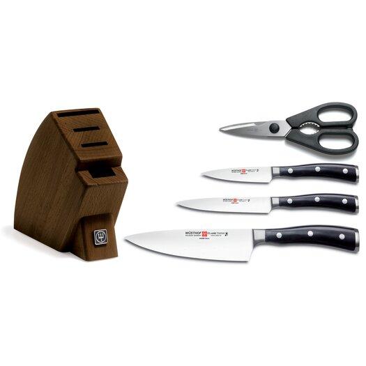 Wusthof Wusthof Classic Ikon 5 Piece Knife Block Set in Brown