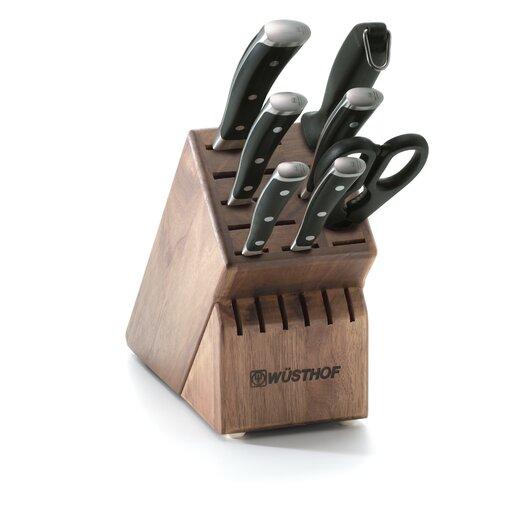 Wusthof Classic Ikon 8 Piece Walnut Knife Block Set