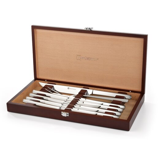 Wusthof 10 Piece Stainless Steel Steak and Carving Set