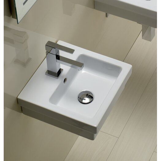 Bissonnet Area Boutique Logic 35 Ceramic Bathroom Sink