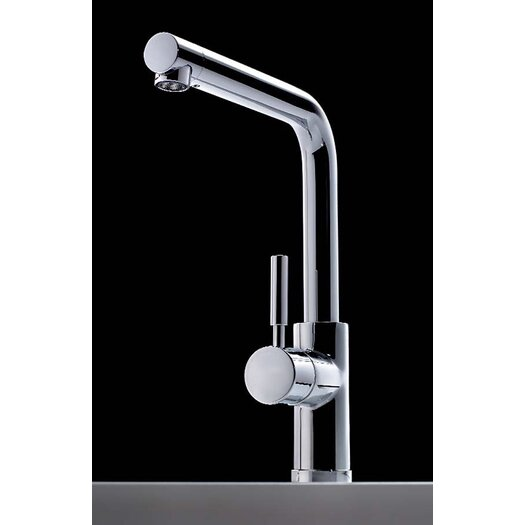 Bissonnet Cromo Single Handle Single Hole Theo Kitchen Faucet with Swivel Spout