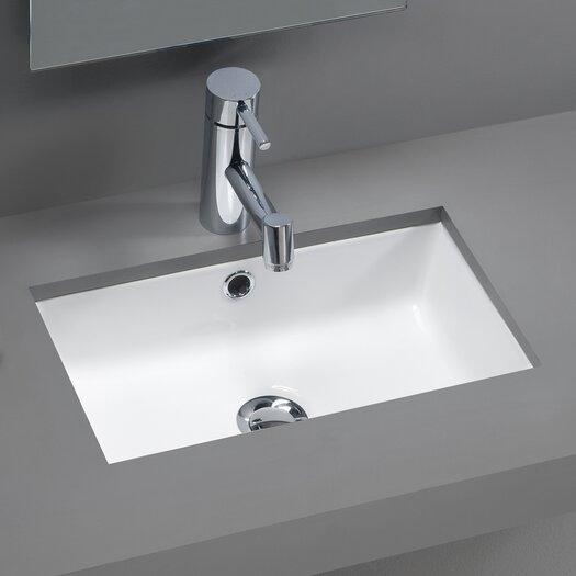 Bissonnet Traffic Agres Ceramic Mini Bathroom Sink