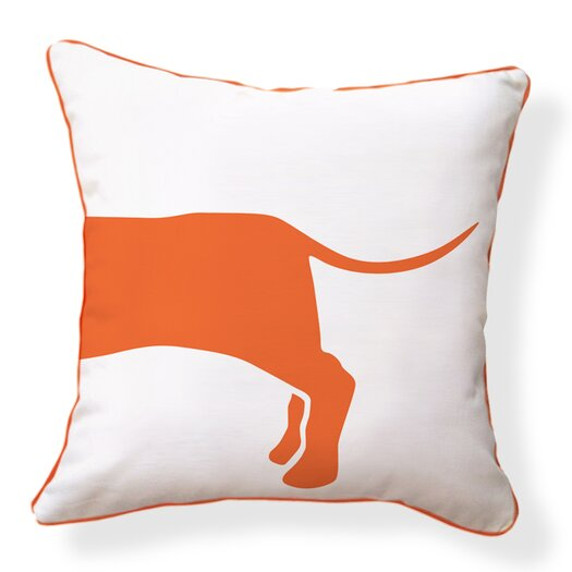 Naked Decor Hot Dog Happy Solid Reversible Throw Pillow