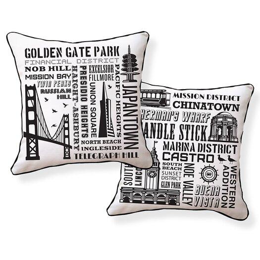 Naked Decor San Francisco Neighborhoods Pillow