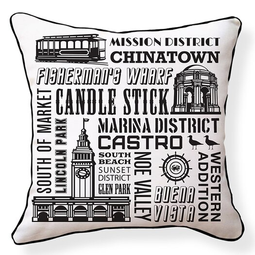 Naked Decor San Francisco Neighborhoods Throw Pillow