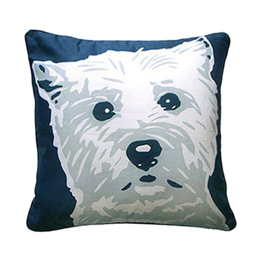 Naked Decor Doggie Style Reversible West Highland Terrier Throw Pillow