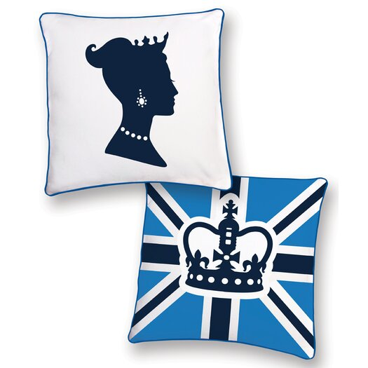 Naked Decor British Invasion Princess Reversible Throw Pillow