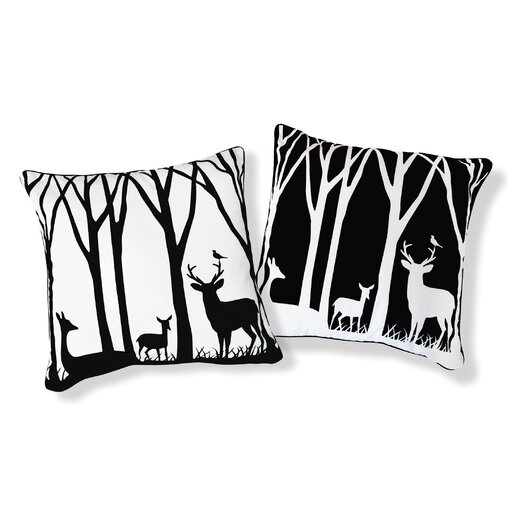 Naked Decor Day and Night in the Forest Pillow