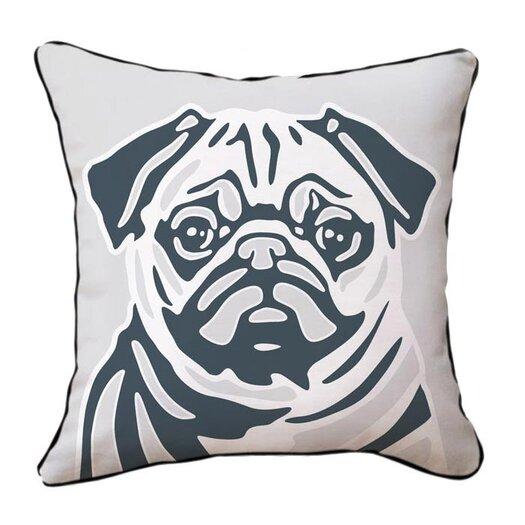 Naked Decor Pug Reversible Throw Pillow