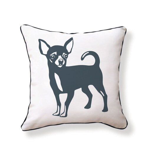 Naked Decor Chi Hua Hua Reversible Throw Pillow