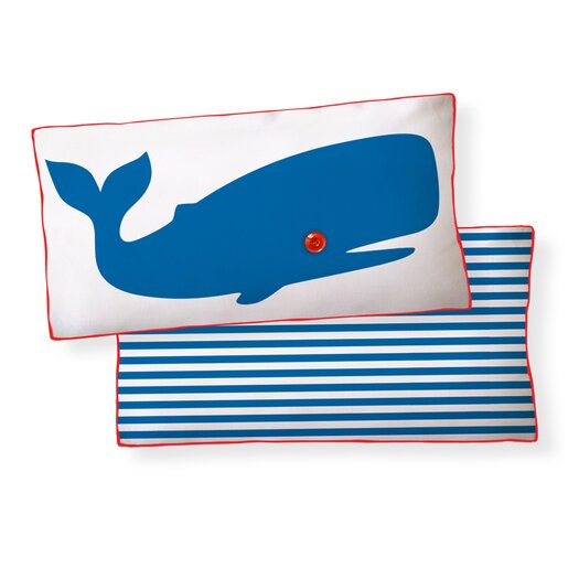 Naked Decor Whale Double Sided Cotton Pillow