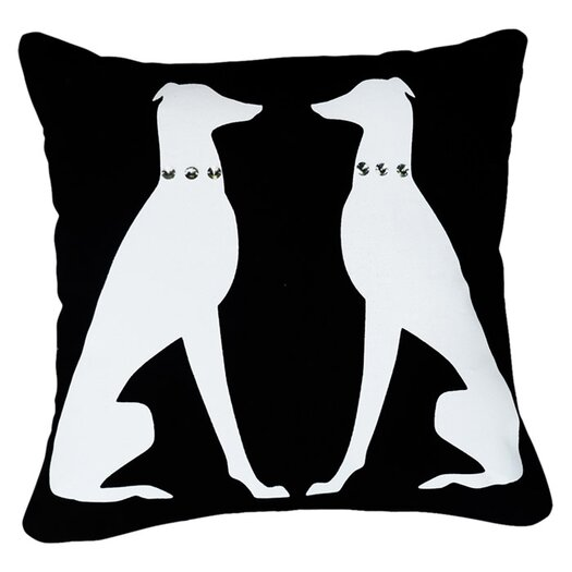 Naked Decor Greyhound with Jewels Pillow