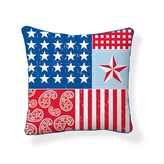 Naked Decor Americana Throw Pillow