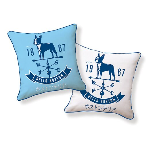 Naked Decor Hello Boston Weathervane Pillow