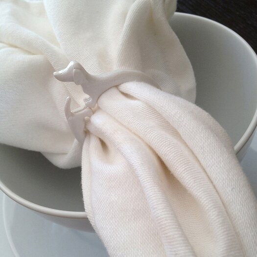 Naked Decor Dachshund Napkin Rings