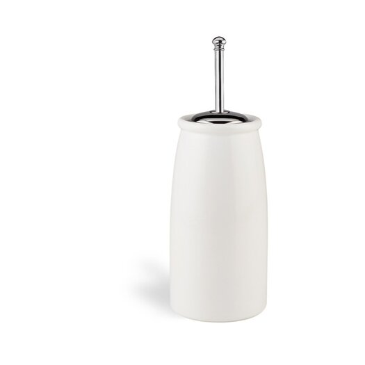 Stilhaus by Nameeks Idra Free Standing Round Toilet Brush Holder in Chrome