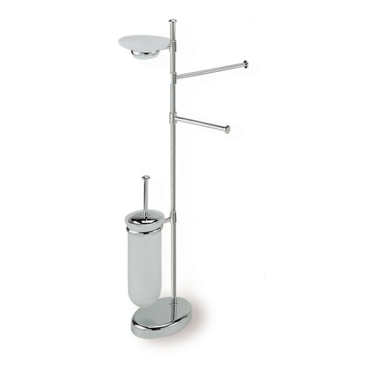 Stilhaus by Nameeks Pegaso Free Standing Four Function Bathroom Butler in Chrome