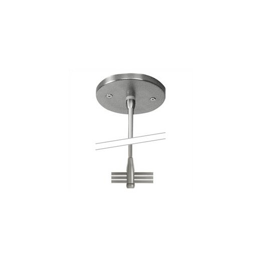 """LBL Lighting 4"""" Single-Post Power Feed Canopy for 2-Circuit Monorail - For Use with Remote Transformers"""
