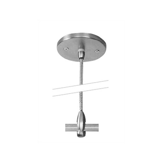 "LBL Lighting 4"" Single-Post Power Feed Canopy for LED Monorail"
