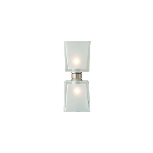 LBL Lighting Twin Tube Two Light Monorail Bath Kit Head with Frost shade in Bronze