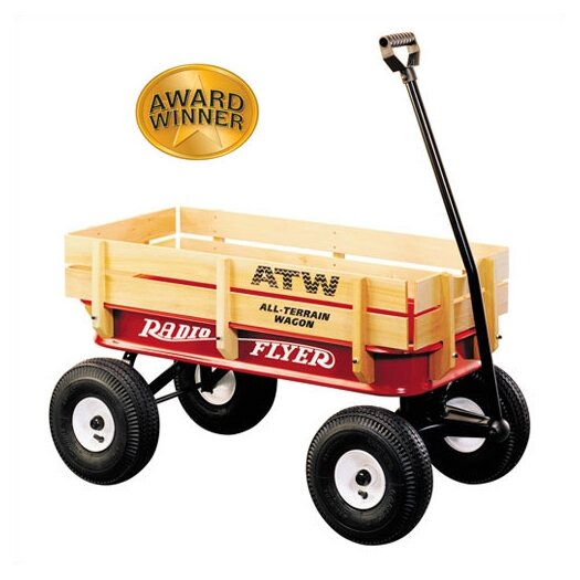 Radio Flyer All-Terrain Steel & Wood Wagon Ride-On