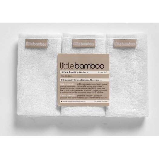 Little Bamboo Toweling Washers - 3 Pack