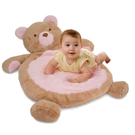 Bestever Baby Mat with Bear in Pink