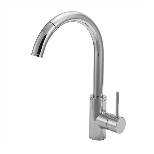 Belle Foret Single Handle Single Hole Kitchen Faucet with Pull Out Spout