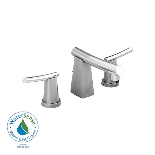 American Standard Green Tea Widespread Bathroom Sink Faucet with Double Lever Handles