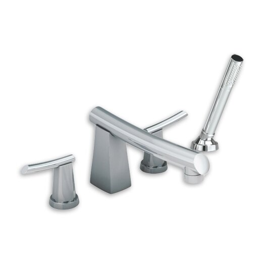 American Standard Green Tea Double Handle Deck Mount Tub Only Faucet with Hand Shower