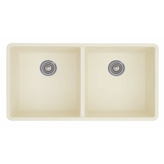 "Blanco Precis 29.75"" x 18.13"" Equal Double Bowl Kitchen Sink"