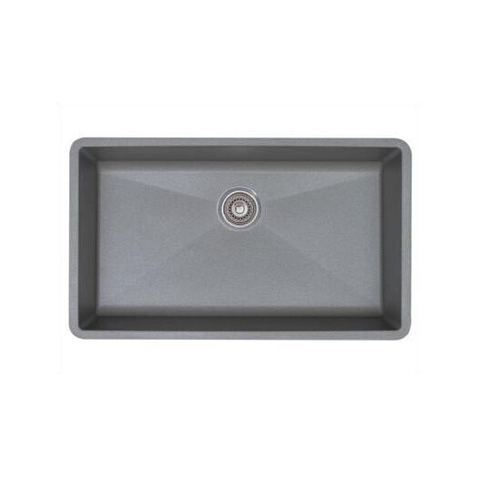 Blanco Precis Super Single Bowl Sink in Metallic Gray