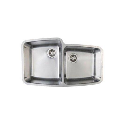 """Blanco Performa 33.13"""" x 20"""" Medium Bowl Undermount Kitchen Sink"""