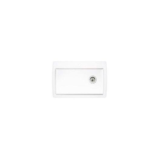 "Blanco Diamond 33.5"" x 22"" Super Single Bowl Drop-In Kitchen Sink"