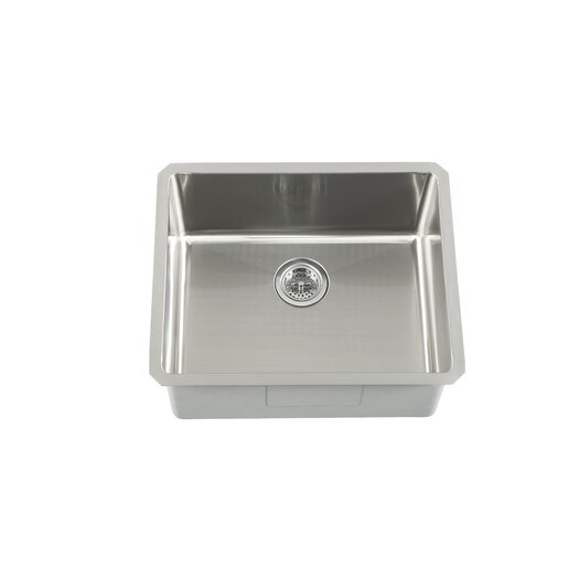 "Schon 23"" x 19"" Single Bowl Zero Radius Bar Sink"