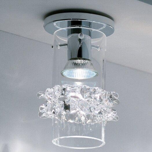 Studio Italia Design Lace Blown Glass Ceiling Fixture