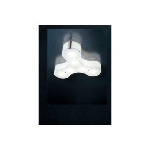 """Studio Italia Design Tris 5.11"""" Wall / Ceiling Light"""