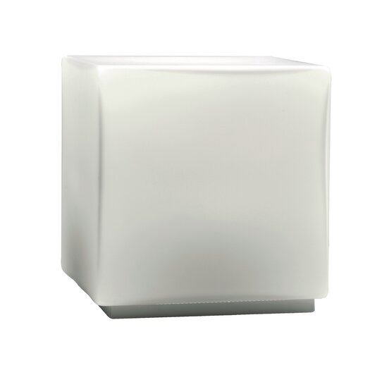 "Studio Italia Design Chop 4.92"" H Cubic Table Lamp with Square Shade"