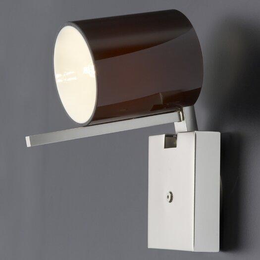 Studio Italia Design Minimania 1 Light Wall or Ceiling Fixture with Blown Glass Diffuser