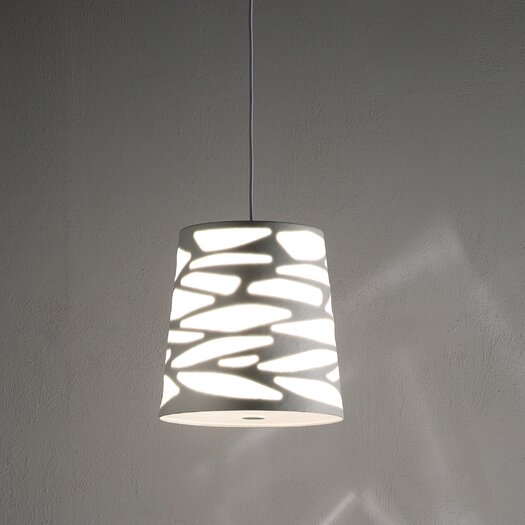 Studio Italia Design Grace-So Cone Pendant with Custom Fabric Diffuser